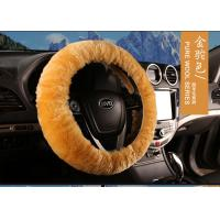 Cheap Anti Slip Warm Winter Fluffy Car Steering Wheel Covers With Soft Nap for sale