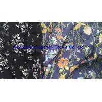 Best Soft Rayon Lawn Fabric With All Over Reactive White Floral Print On Semi Bleached Background wholesale