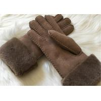 Best Bowie shearling-lined suede leather gloves double face fur lined leather gloves wholesale