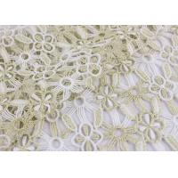 Best Polyester Lace Fabric With Floral Lace Designs Metallic Fabric For Fashion Garment wholesale