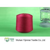 Best Red / White / Yellow Z Twist Polyester Dyed Yarn For Virgin Sewing Thread wholesale