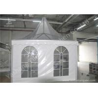Quality Clear And White Pvc Fabric Top High Peak Party Tent Transparent Soft Window wholesale