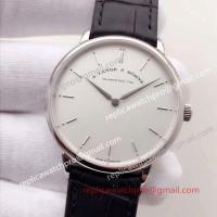 Best A. Lange & Sohne Saxonia SS White Dial Leather Strap Swiss Watch wholesale