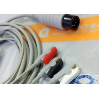 Best Generic AAMI 6 Pin One Piece ECG Patient Cable 3 Leads For Patient Monitoring Equipment wholesale