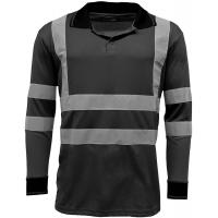 Best Reflective Strips Mens Hi Viz T Shirts Workwear , Dry Fit 2 Tone Guys Polo Shirts wholesale
