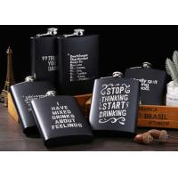 Best Matte Black Kitchen Household Items 8oz Stainless Steel Hip Flask wholesale