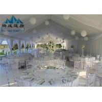 Best Stretch Heavy Duty Canopy Tent PVC Cover With Sandwich Wall And Cassette Wooden Floor wholesale