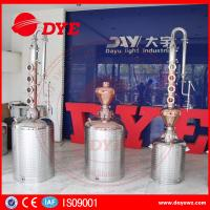 Cheap reflux vodka distiller 6plates copper column distill equipment home alcohol distillers for sale