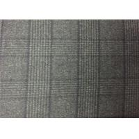 720G/M Charcoal Plaid Double Faced Wool Fabric For Coats , Double Weave Fabric