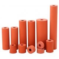 Best 300C high temperature resistant 45 shore a red color lamination rubber silicon rollers wholesale