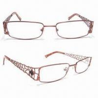 Buy cheap Men's Popular Optical Frame with Free Personalized Logo, Fashionable Design, Made of Metal from wholesalers