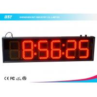 Best 6 Inch Red Digital Led Clock Display Support 12 / 24 Hour Format Switch wholesale