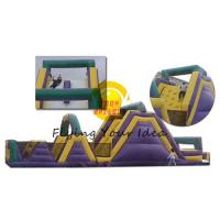 Best Giant Inflatable Castle Bouncer PVC , Colorful Obstacle For Children wholesale