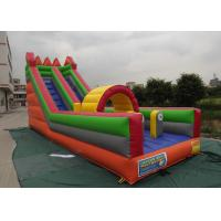 Best Custom Logo Commercial Water Slides , Inflatable Bouncer With Slide Lead Free wholesale