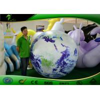 China 2m Inflatable Helium Balloon Advertising Publicity Earth Balloon With LED Light on sale