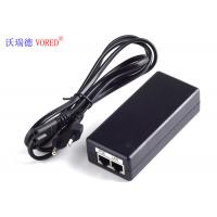 Best 24V DC POE Power Adapter Black Color EU Plug AC100 - 240V Input Voltage wholesale
