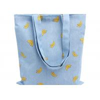 Best Banana Printed 12 Oz Natural Custom Canvas Bags Reusable Ideal for Groceries , Shopping wholesale
