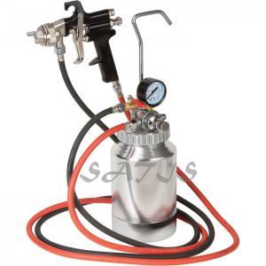 Best 3 bar Pneumatic Tool  2ltr Pressure Tank with Air Regulator Paint Pot Spray Gun for shoes , wood wholesale