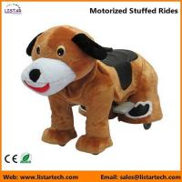 Cheap Battery Operated Motorized Stuffed Rides on Toys for kids and adult-Dog for sale