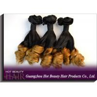 Best Grade 7A Colored Human Hair Extensions , Spring Curl Virgin Brazilian Hair OEM ODM wholesale