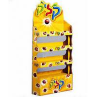 Best Yellow Double-Side POS Cardboard Display Stand For Retail / Supermarket Promotion wholesale