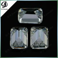 China Rectangle Emerald Cut White Cubic Zirconia Gemstones For Jewelry Making on sale