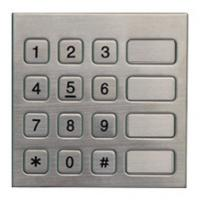 Cheap Vandal Resistant Phone Keyboard , Stainless Steel Keypad With 16 Keys for sale