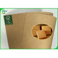 Best Anti - Curl FSC Approved Brown Kraft Paper Roll Of 190g 200g 230g 250g wholesale
