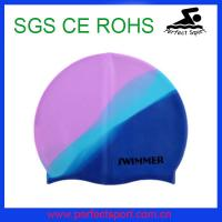 Best colorful waterproof funny adult silicone swimming cap wholesale