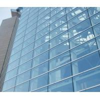 China Double Glazed Unitized Glass Curtain Wall with 8mm+12A+8mm coated glass on sale