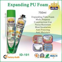 China Expanding Tube Pu Foam Spray 750ml For Window And Door Wood Strength on sale
