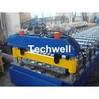 Best Hydraulic cutting Metal Roofing Cold Roll Forming Machine 13 - 22 Stations TW27-195-780 wholesale