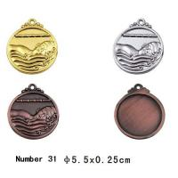 Best Swimming medal Blank Sport Medals , custom plated gold / silver / bronze metal medal wholesale