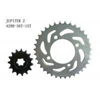 Best JUPITER Z Motorcycle Sprocket Chain 36T-15T Heat Treatment Surface ISO Approval wholesale