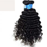 Cheap Natural Black 1b# Deep Wave Double Drawn Hair Extensions With Full Cuticles for sale
