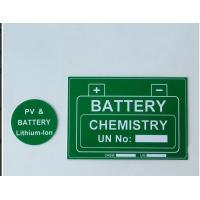 Buy cheap Self Adhesive Custom Hard Plastic Signs Engraved Abs Pv Material from wholesalers