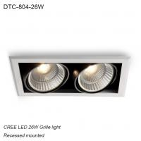 Best Indoor IP40 recessed mounted 26W COB LED Grille light for shipping mall wholesale
