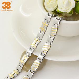 Best China supplier bracelet titanium magnetic jewelry gold plated,energy bracelet,fashion bracelet wholesale
