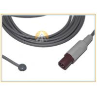 Best Skin Surface Medical Temperature Probe 2 Pin Plug High Flexibility Cable wholesale