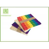 Best Wooden Stained Colored Flat Craft Sticks With Various Size And Color wholesale