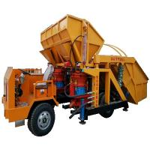 China 5.2T Truck mounted concrete shotcrete machine|7-9m³/hx2|used in mining and motar spraying. on sale
