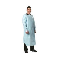 Best Hospital Used Cloth Isolation Gown Disposable CPE Gown With Long Sleeves wholesale