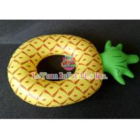 Best Colorful Pineapple Inflatable Pool Floats Comfortable Swimming Ring wholesale