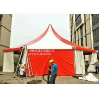 Best Circus Romantic Aluminium Alloy Octagonal Red PVC Cloth Tents For Parties With PVC Walls wholesale