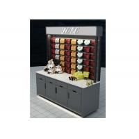 Best Grey Mobile Wall Mounted Display Cabinets Two Ways Floor Standing For Showroom wholesale