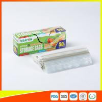 Best Clear Reclosable Plastic Food Storage Bags Zip Seal With Private Lable wholesale