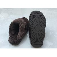 Cheap Anti Slip Ladies Sheepskin Mule Slippers , Ladies Wool Lined Slippers With Soft for sale