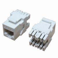 Best Cat6 UTP Keystone Jacks, Short Type and 110 Punching Tool Standard (180 Degrees), High-reliability  wholesale
