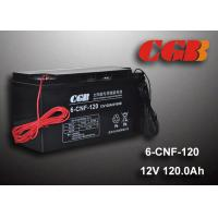 Best 12V 120AH Non Spillable Valve Regulated Sealed Lead Acid Battery Rechargeble Waterproof Cable wholesale
