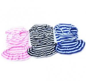 Best Dog Cat Puppy Clothes Pet Apparel Striped Princess Bowtie Dress wholesale